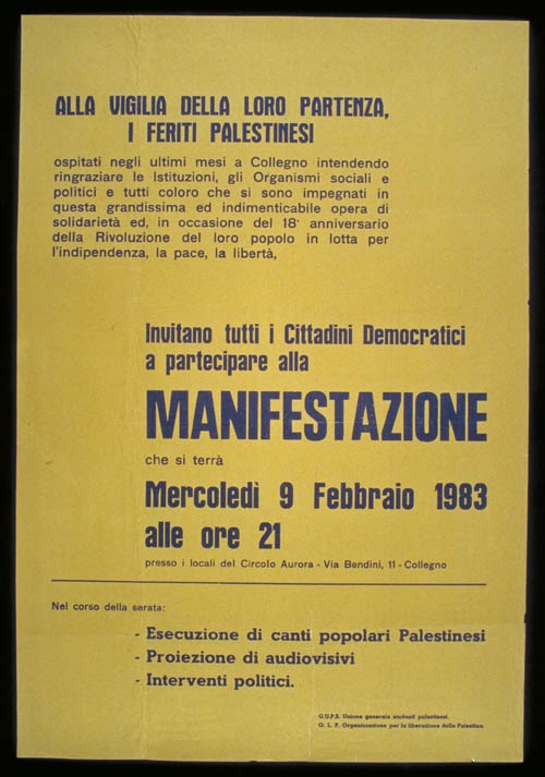 "<a href=""/artist/research-in-progress"">Research in Progress </a> - <a href=""/nationalityposter/italy"">Italy</a> - 1983 - GAZA"