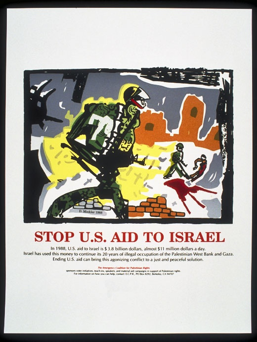 "<a href=""/artist/doug-minkler"">Doug Minkler</a> - <a href=""/nationalityposter/united-states-of-america"">United States of America</a> - 1988 - GAZA"