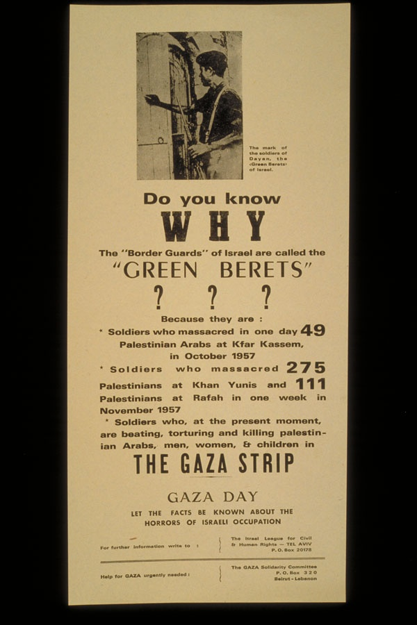 "<a href=""/artist/research-in-progress"">Research in Progress </a> - <a href=""/nationalityposter/israel"">Israel</a> - 1971 - GAZA"