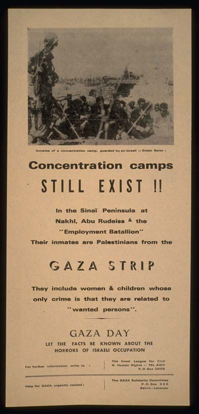 "<a href=""/artist/research-in-progress"">Research in Progress </a> - <a href=""/nationalityposter/israel"">Israel</a> - 1972 - GAZA"