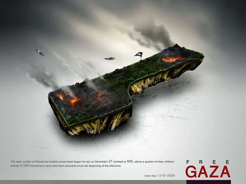 """<a href=""""/artist/zaher-aqel"""">Zaher  Aqel</a> -  2009 - GAZA"""