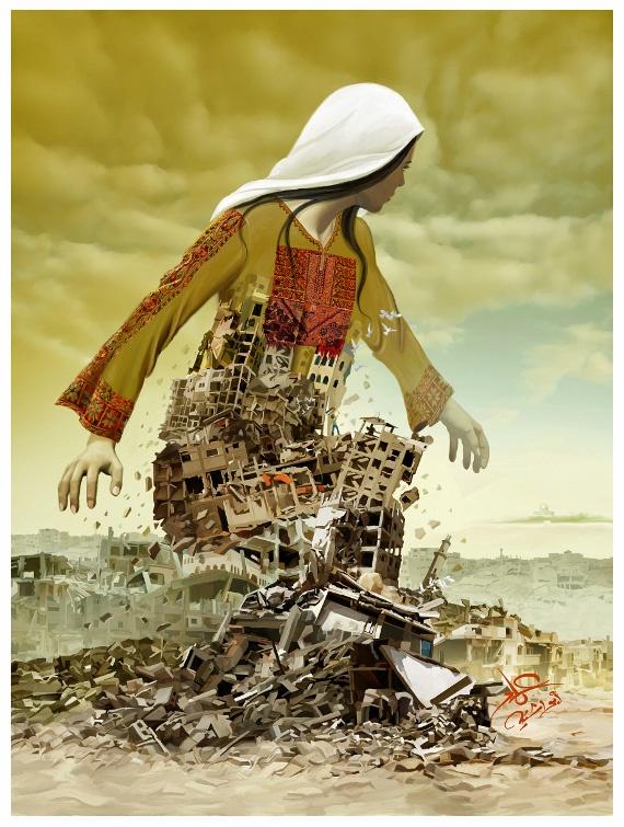 """<a href=""""/artist/imad-abu-shtayyah"""">Imad Abu Shtayyah</a> -  2014 - GAZA"""