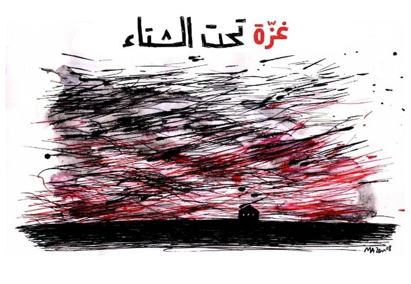 """<a href=""""/artist/mazen-kerbaj"""">Mazen Kerbaj</a> - <a href=""""/nationalityposter/lebanon"""">Lebanon</a> - 2008 - GAZA"""