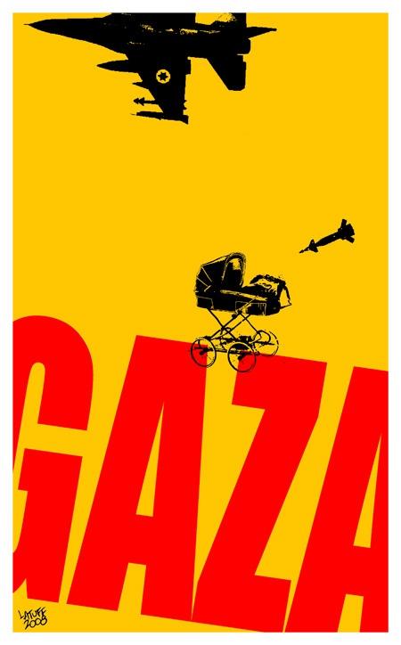 """<a href=""""/artist/carlos-latuff"""">Carlos Latuff</a> - <a href=""""/nationalityposter/brazil"""">Brazil</a> - 2008 - GAZA"""