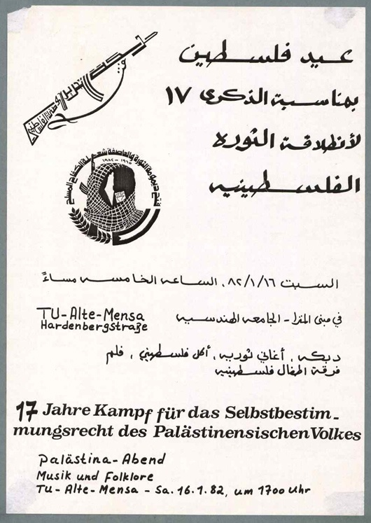 "<a href=""/artist/research-in-progress"">Research in Progress </a> - <a href=""/nationalityposter/germany"">Germany</a> - 1982 - GAZA"