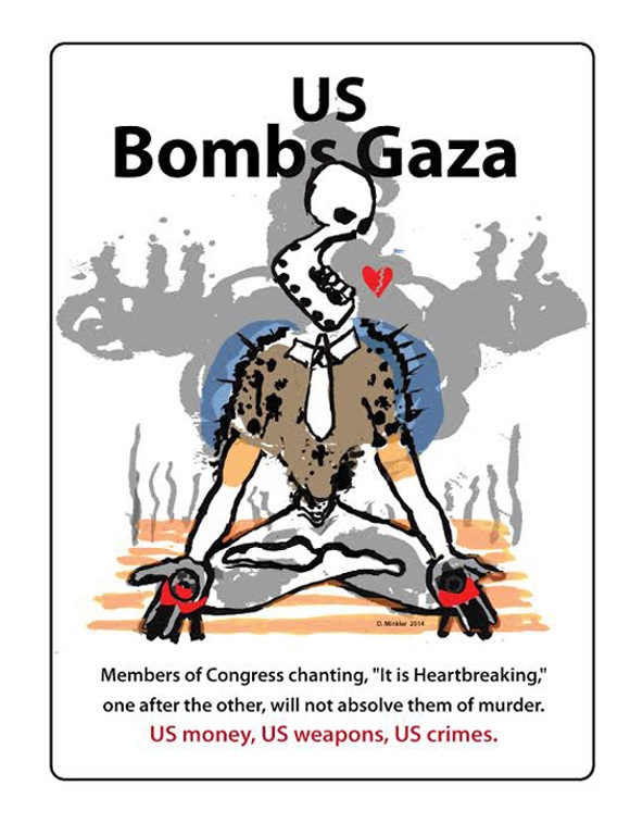"<a href=""/artist/doug-minkler"">Doug Minkler</a> - <a href=""/nationalityposter/united-states-of-america"">United States of America</a> - 2014 - GAZA"