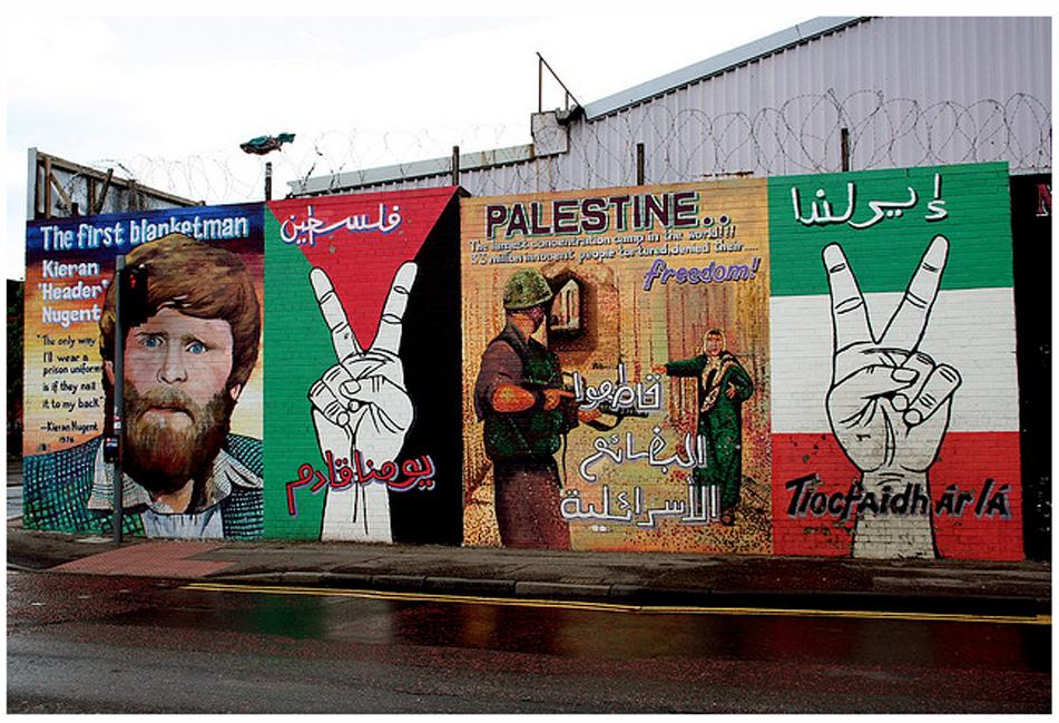 Palestine solidarity mural northern ireland the for Mural northern ireland