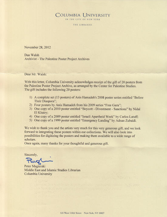 Columbia Acceptance Letter.Acknowledgement Letter 1 Columbia University The