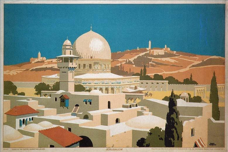 """<a href=""""/artist/frank-newbould"""">Frank Newbould</a> -  1925 - GAZA"""