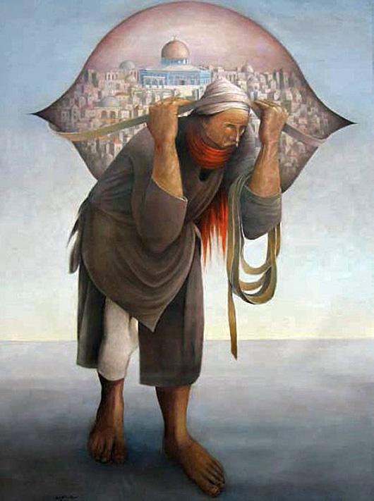 "<a href=""/artist/sliman-mansour"">Sliman  Mansour</a> - <a href=""/nationalityposter/palestine"">Palestine</a> - 2005 - GAZA"